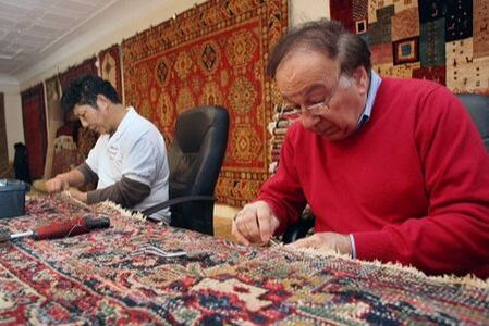 Oriental Rug Repair at the Shop in Melrose, MA