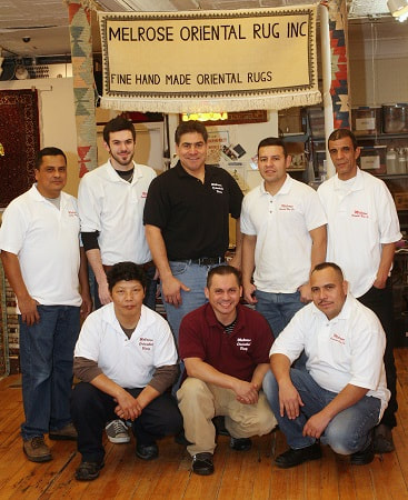 The cleaning crew at Melrose Oriental Rug